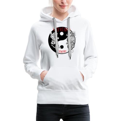 logo grand - Sweat-shirt à capuche Premium pour femmes