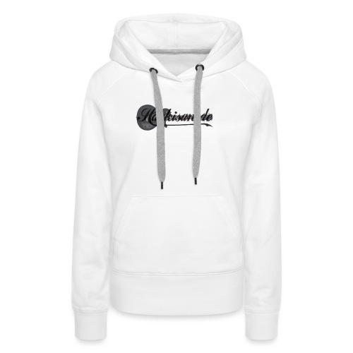 Tasse - schwarz - Hackisan-Logo vorne u. hinten - Frauen Premium Hoodie