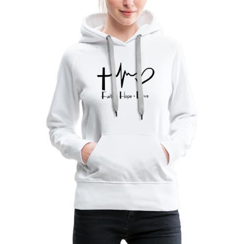 faith hope love - Sweat-shirt à capuche Premium pour femmes