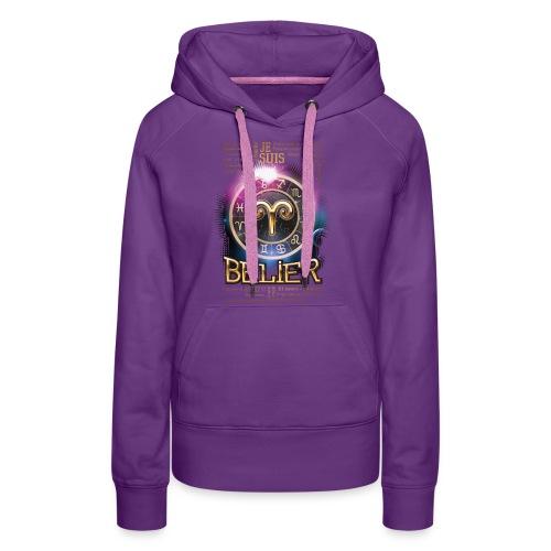 BELIER - Sweat-shirt à capuche Premium pour femmes