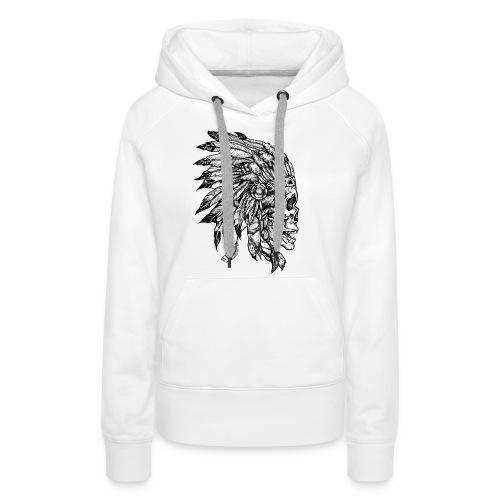 Skull WF2 - Sweat-shirt à capuche Premium pour femmes