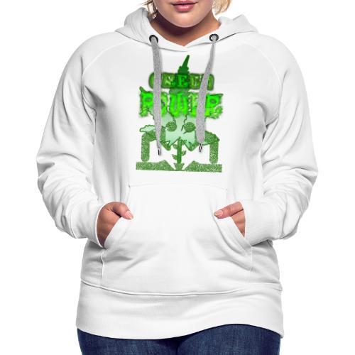 Green Power - Sweat-shirt à capuche Premium pour femmes