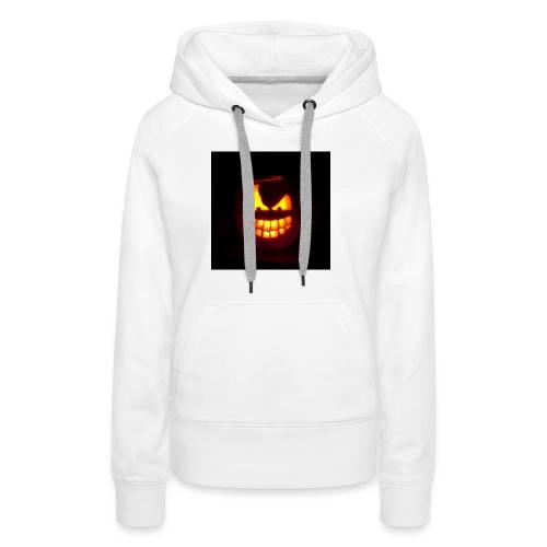 halloween jack - Felpa con cappuccio premium da donna
