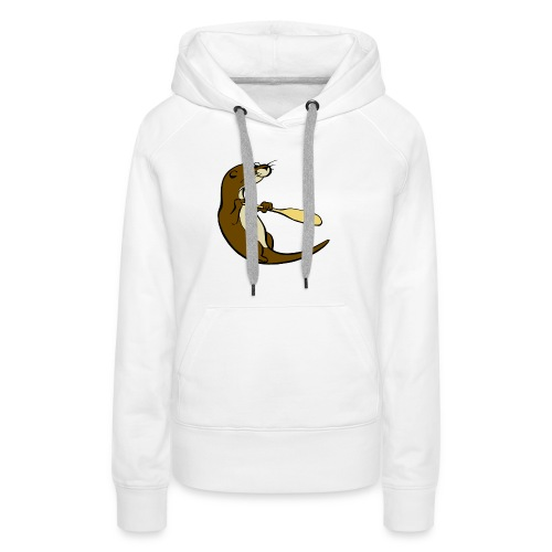 Classic Song of the Paddle otter logo - Women's Premium Hoodie