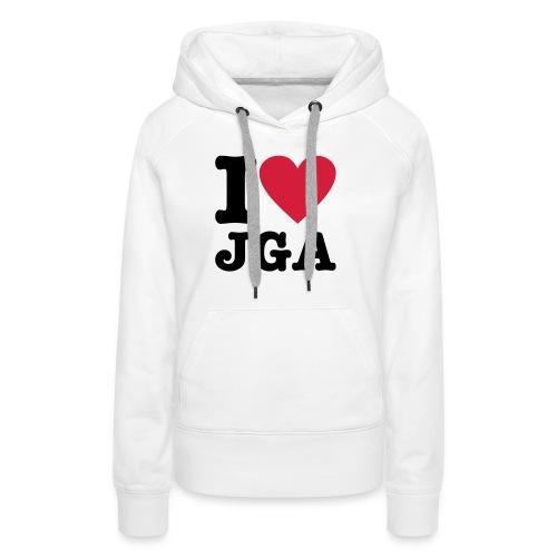 I love JGA - Frauen Premium Hoodie