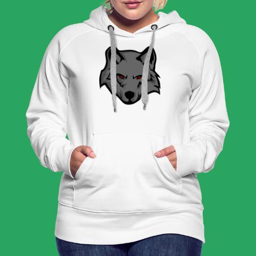 wolf logo - Felpa con cappuccio premium da donna