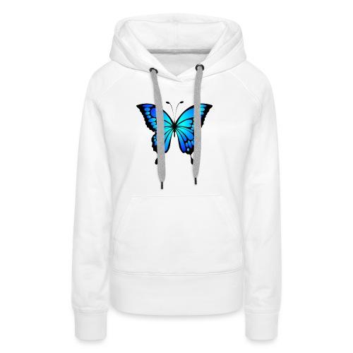 Mariposa - Sudadera con capucha premium para mujer