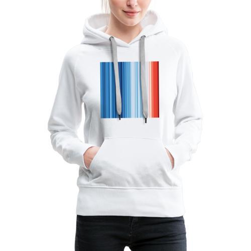 s4f warming stripes - Frauen Premium Hoodie