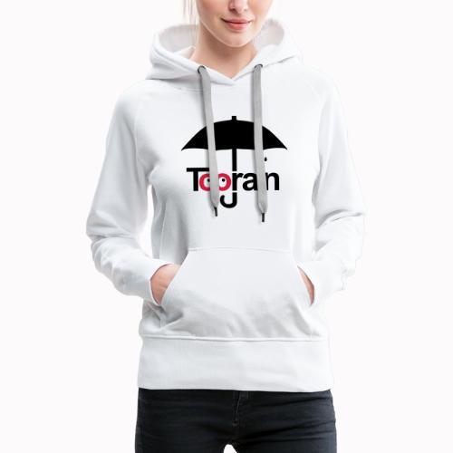 toorain - Felpa con cappuccio premium da donna