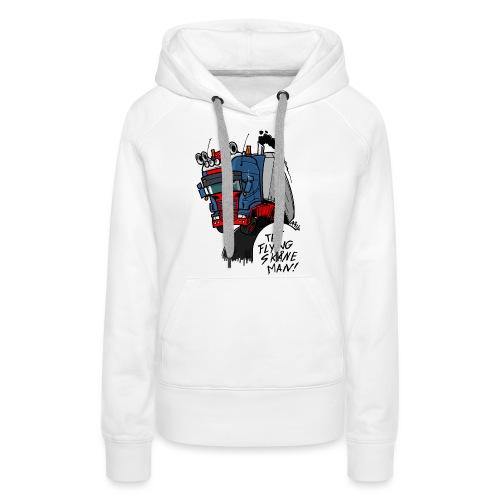 The flying skane man - Vrouwen Premium hoodie