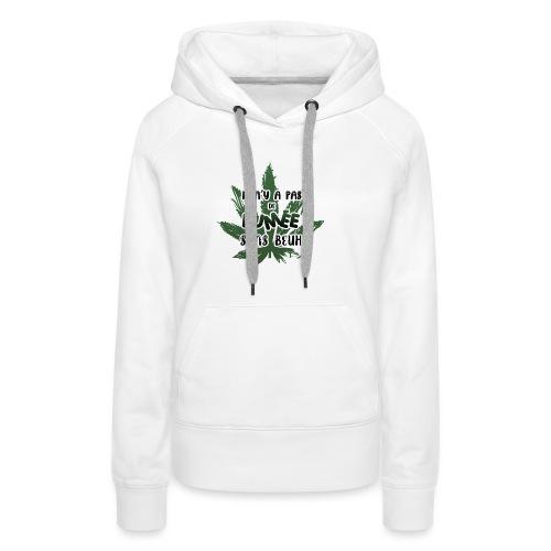 weed - Sweat-shirt à capuche Premium pour femmes