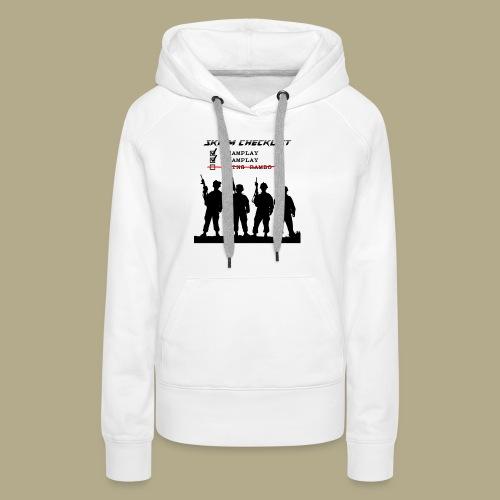 Skirm Checklist - Vrouwen Premium hoodie