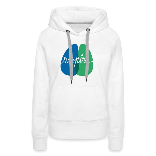 T-shirt de l'association Respire (coupe homme) - Sweat-shirt à capuche Premium pour femmes
