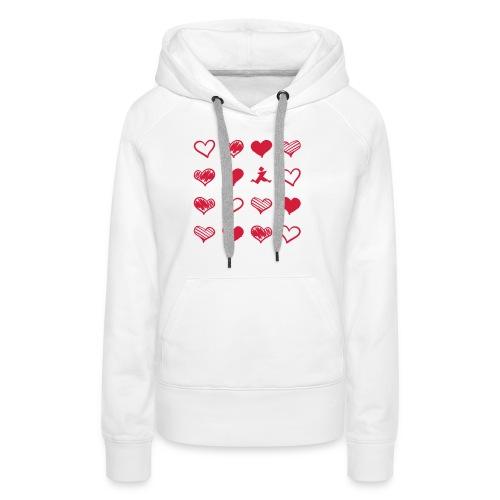 15 Herzen und Tangram - Frauen Premium Hoodie