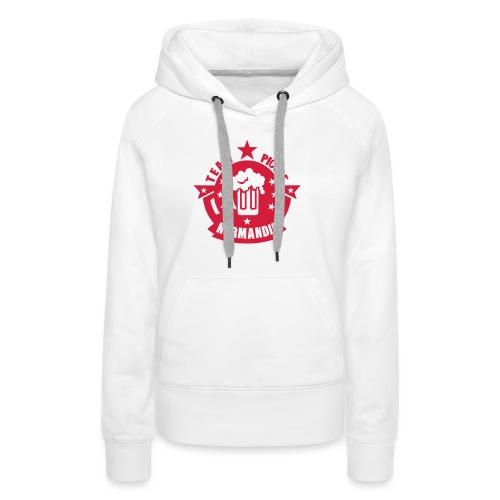 normandie team picole biere logo - Sweat-shirt à capuche Premium pour femmes