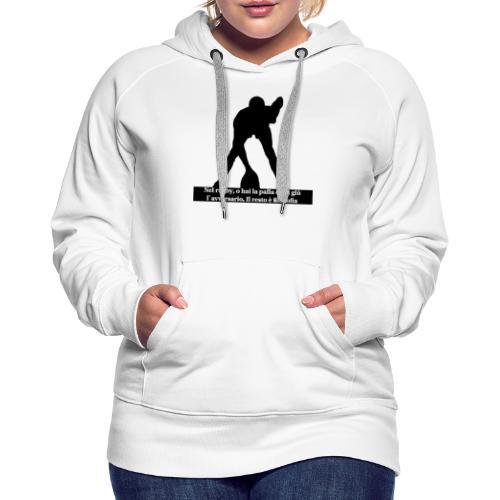 Rugby - Felpa con cappuccio premium da donna