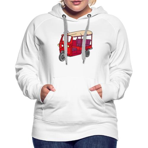 Rote Autorikscha, Tuk-tuk - Frauen Premium Hoodie