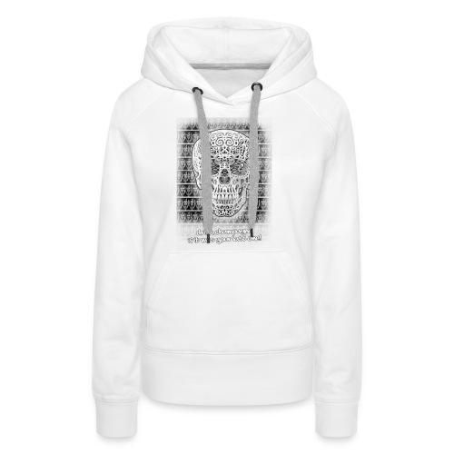 skull black trans 2 jpg - Vrouwen Premium hoodie