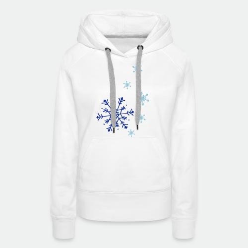 Snowflakes falling - Women's Premium Hoodie