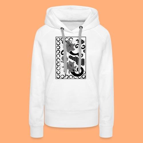 fleurs et graphisme - Sweat-shirt à capuche Premium pour femmes