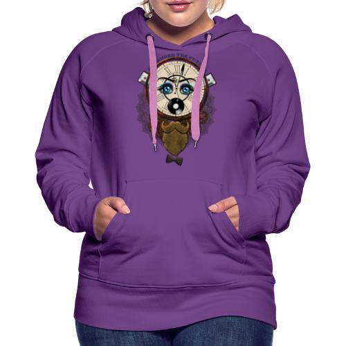 Remember the futur 'pour couleur claire' - Sweat-shirt à capuche Premium pour femmes