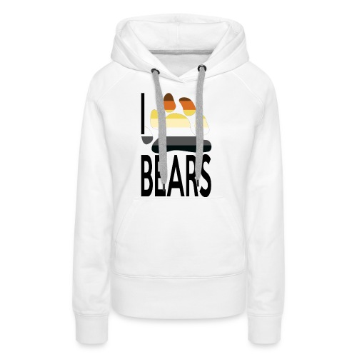 I love bears - Sweat-shirt à capuche Premium pour femmes