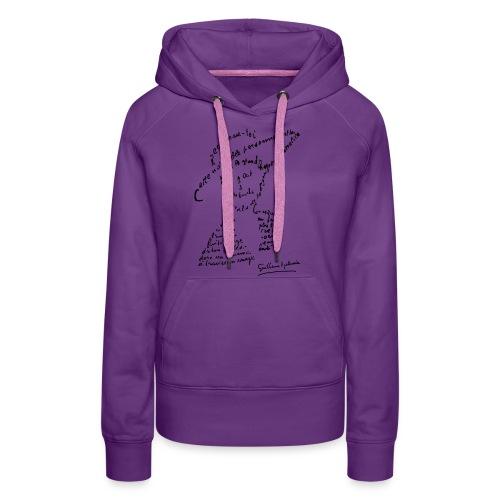 calligramme - Lou au chapeau - Sweat-shirt à capuche Premium pour femmes