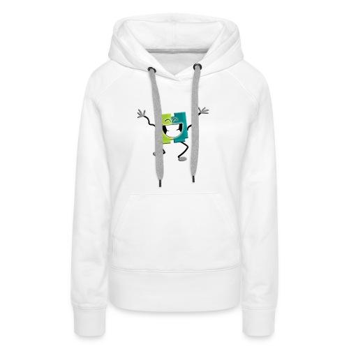 Blij blokje - Vrouwen Premium hoodie