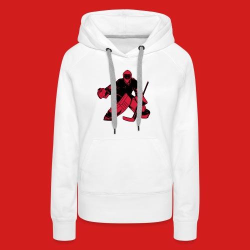 Goalie_Black_and_Red - Frauen Premium Hoodie
