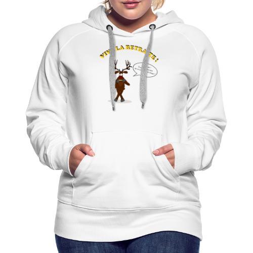 retraite de chasseur - Sweat-shirt à capuche Premium pour femmes