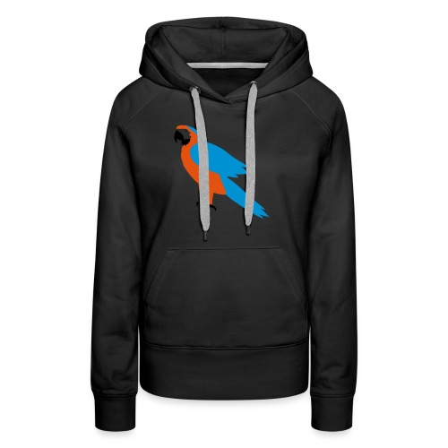 Parrot - Felpa con cappuccio premium da donna