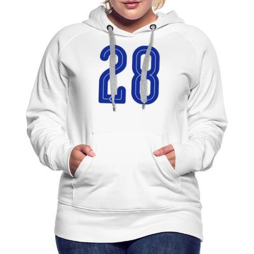 28 Jersey Number by Pelibol ™ - Frauen Premium Hoodie
