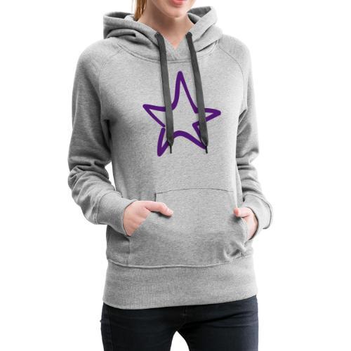 Star Outline Pixellamb - Frauen Premium Hoodie