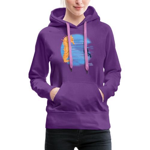 hippocampe - Sweat-shirt à capuche Premium pour femmes