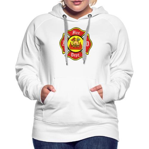 Feuerwehrschild-Fire-Dept - Frauen Premium Hoodie