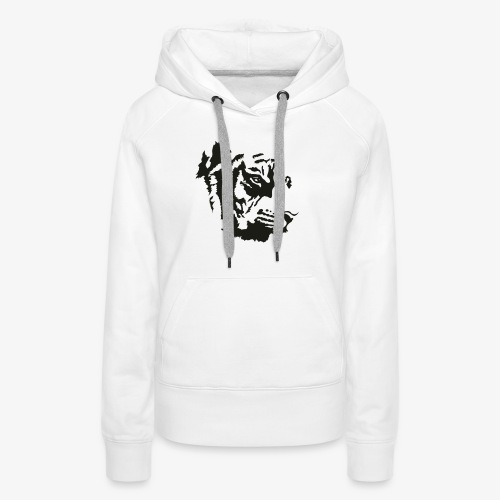 Tiger head - Sweat-shirt à capuche Premium pour femmes