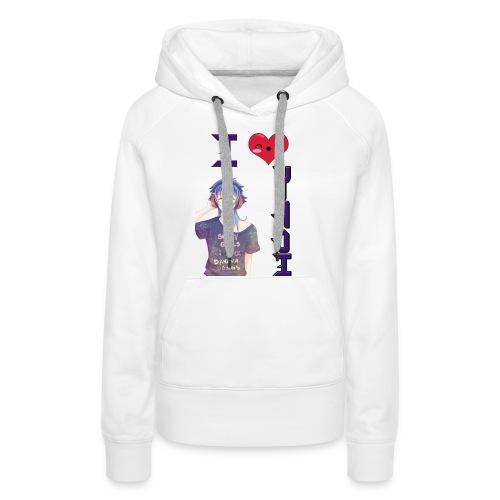 I love Yaoi ( Aoba ) - Sudadera con capucha premium para mujer