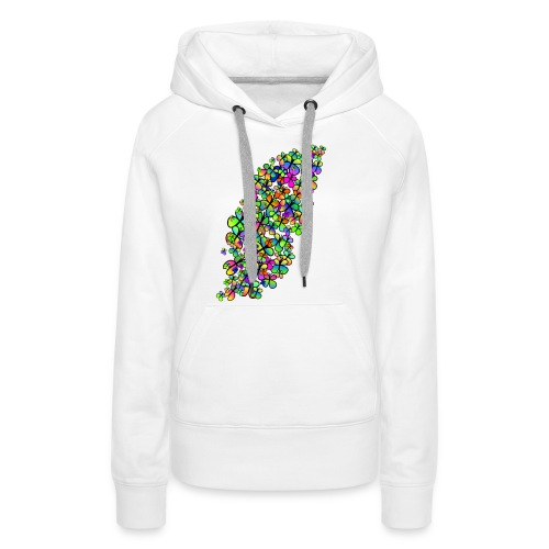 Colorful butterflies - Sweat-shirt à capuche Premium pour femmes
