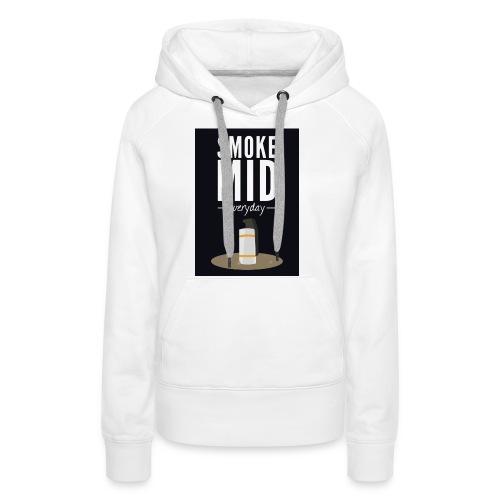 smoke mid - Vrouwen Premium hoodie