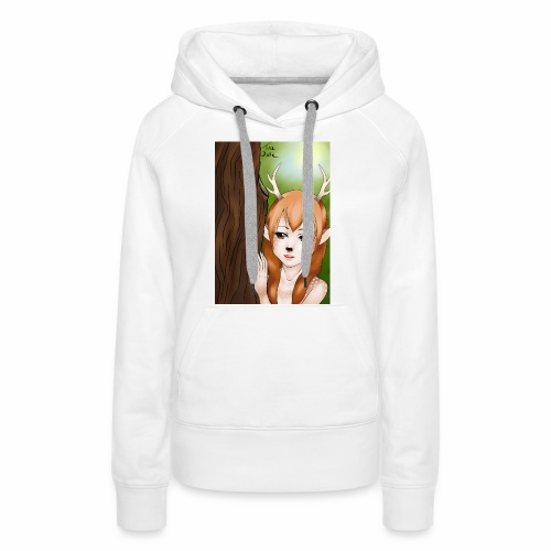 Sam sung s6:Deer-girl design by Tina Ditte - Women's Premium Hoodie