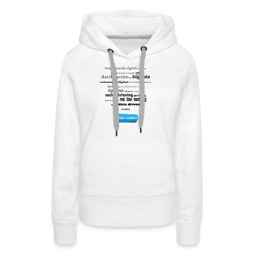 Marketing buzzwords - Sudadera con capucha premium para mujer