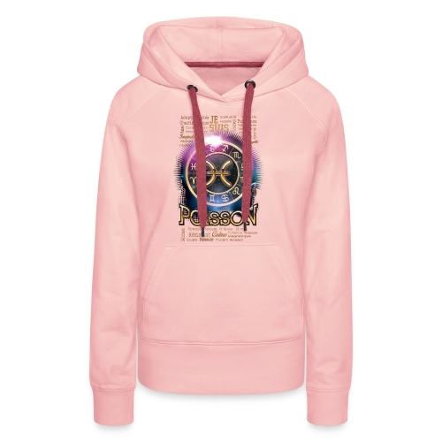 POISSONS - Sweat-shirt à capuche Premium pour femmes
