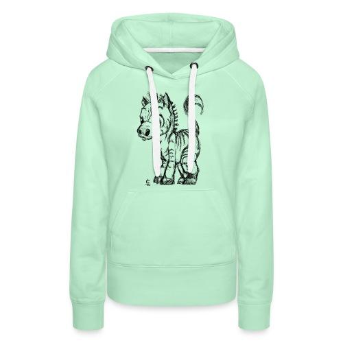 zebre - Sweat-shirt à capuche Premium pour femmes