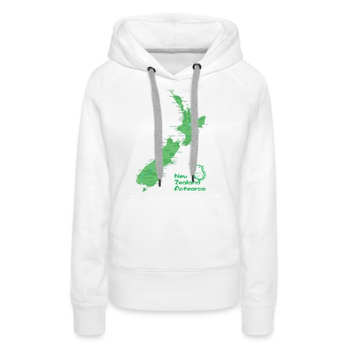 New Zealand's Map - Women's Premium Hoodie