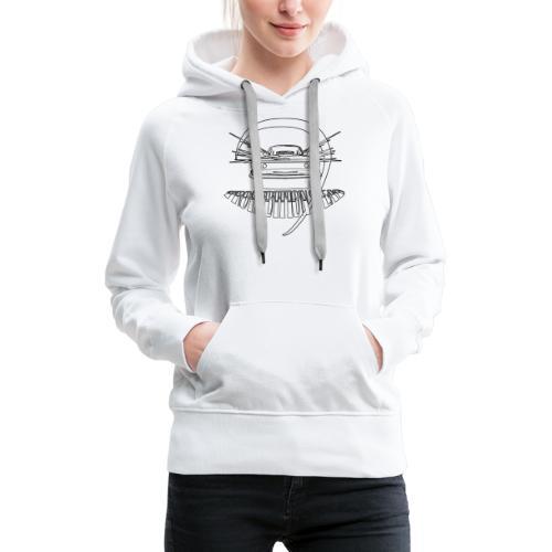 Tee MuscleCar White - Sweat-shirt à capuche Premium pour femmes