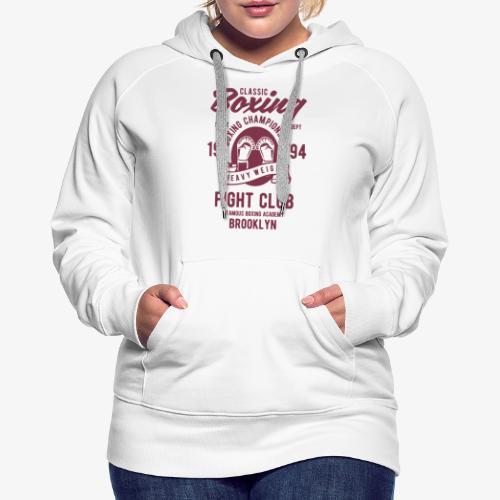 Classic Boxing - Sweat-shirt à capuche Premium pour femmes