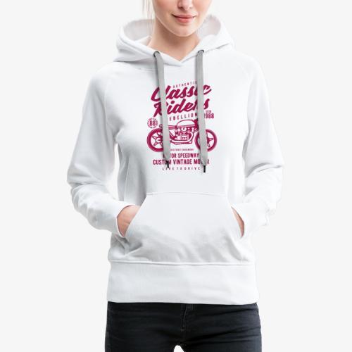 Classic Riders - Sweat-shirt à capuche Premium pour femmes
