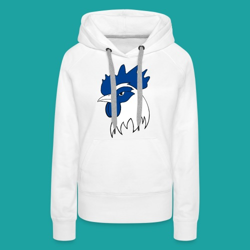 tee-shirt coqbleu bleu clair - Sweat-shirt à capuche Premium pour femmes