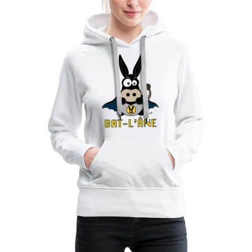 Âne Super Héros - Sweat-shirt à capuche Premium pour femmes