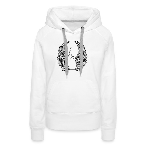 middle finger with wings - Vrouwen Premium hoodie